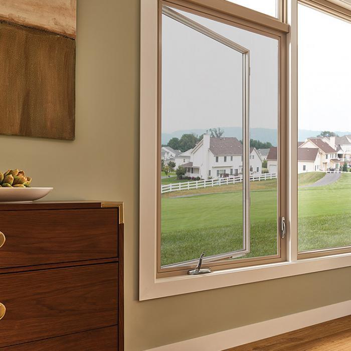 Ultra Series fiberglass casement windows in harmony