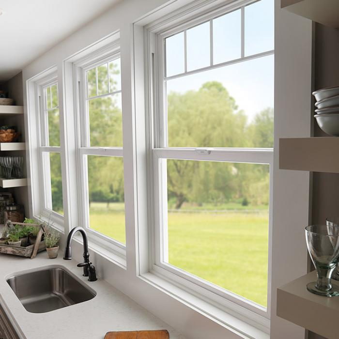 Tuscany Series vinyl double hung windows