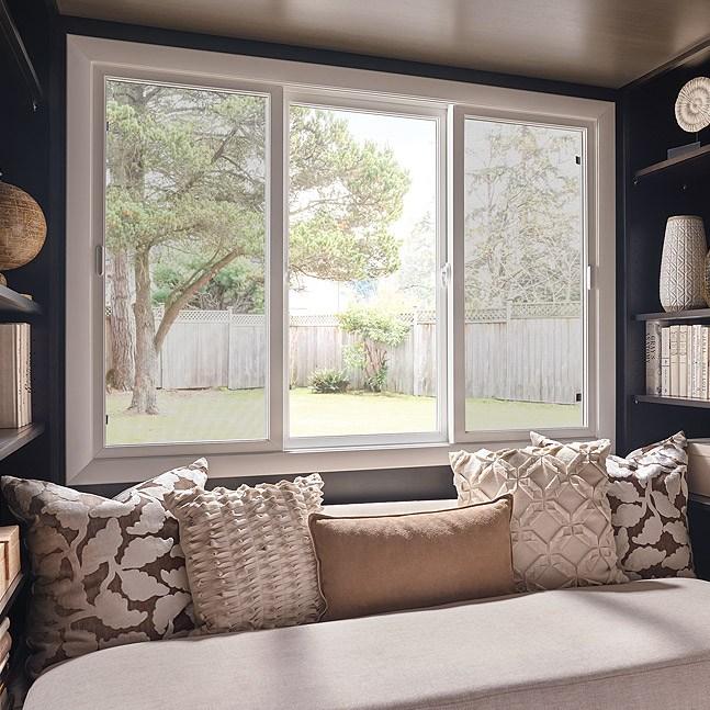 Ultra Series fiberglass double horizontal slider window