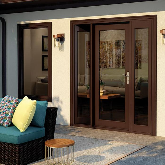 Tuscany Series vinyl swing French patio doors