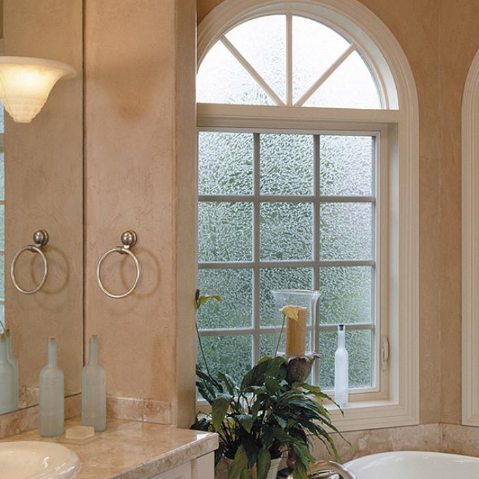 Ultra Series fiberglass radius over casement windows