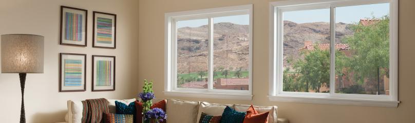 Tuscany Series vinyl horizontal slider window