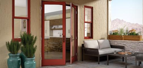 Essence Series wood out-swing French patio door