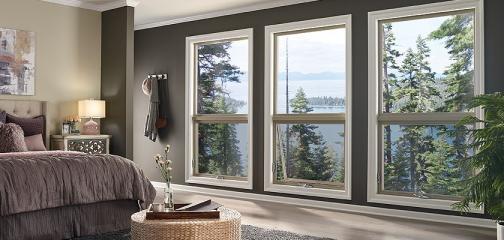 Ultra Series fiberglass awning windows in harmony