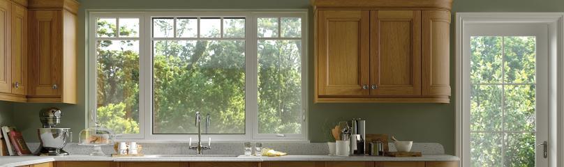 Ultra Series fiberglass casement picture window