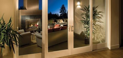 Ultra Series fiberglass 4-panel sliding patio door